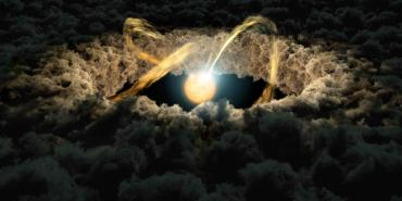 Artistic Rendering of Protoplanetary Disk