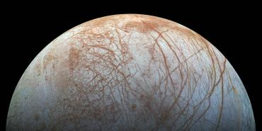 The surface of Jupiter icy moon Europa