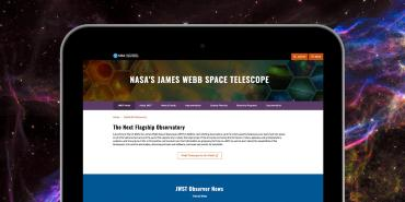 Image showing the redesigned JWST Observer home page.