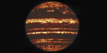 Gemini infrared image of Jupiter