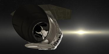 WFIRST spacecraft in front of a dramatic star