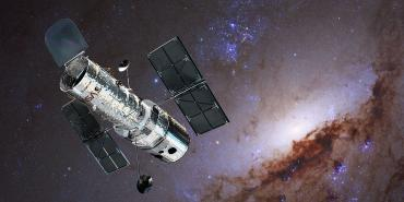 Hubble with one of the LEGUS galaxies