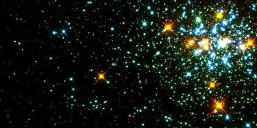 star cluster with white dwarf