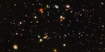 deep field with many galaxies