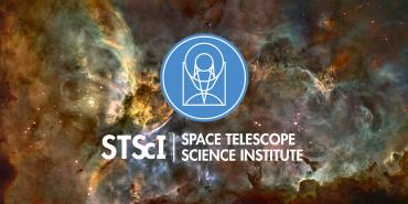 STScI logo on space background