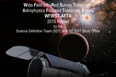 Cover of pdf document showing an artistic rendering of WFIRST