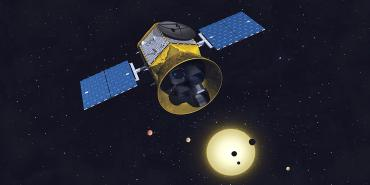 Artistic rendering of the Transiting Exoplanet Survey Satellite (TESS)