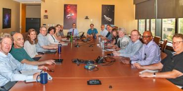 STScI's leadership meeting in a conference room