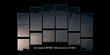 simulated WFIRST view of M31