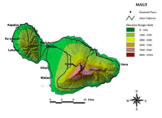 Elevation Map Of Maui
